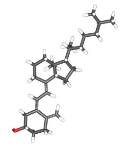 البنية الكيماوية لفيتامين د3 ( الكولي كالسيفيرول )
